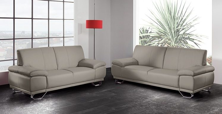 Sof s de 3 2 plazas for Sillones grises decoracion