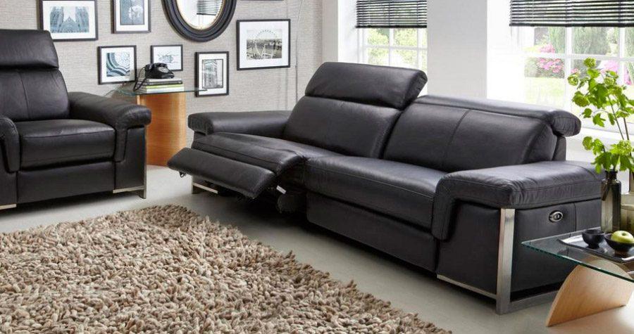 Sofa piel reclinable electrico for Sillon reclinable