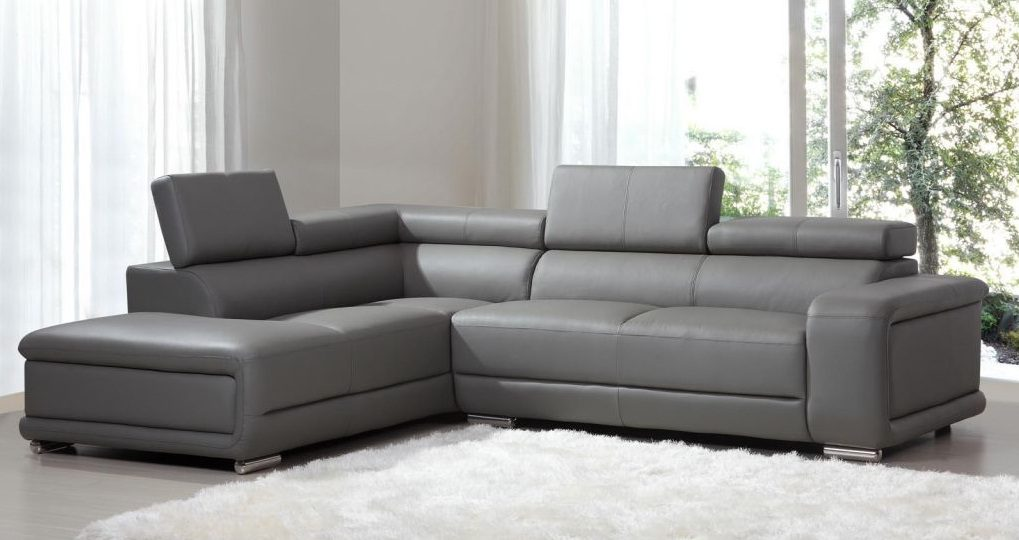 Sof angular de piel im genes y fotos for Sofas chaise longue de piel