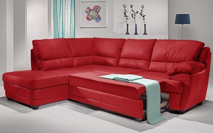 sof cama de cuero convertible angular im genes y fotos