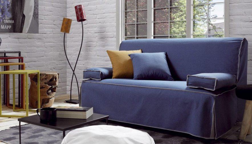 Sof cama informal de tela im genes y fotos - Sofas clasicos de tela ...
