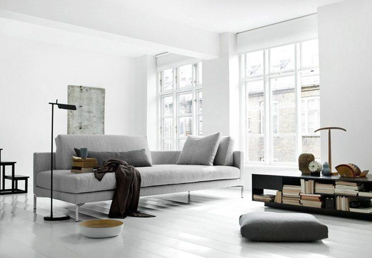 Sof de estilo escandinavo im genes y fotos for Sofas grises modernos