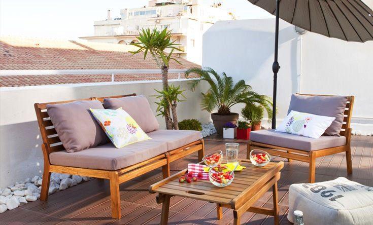Sof s para la terraza for Mobiliario para terrazas pequenas