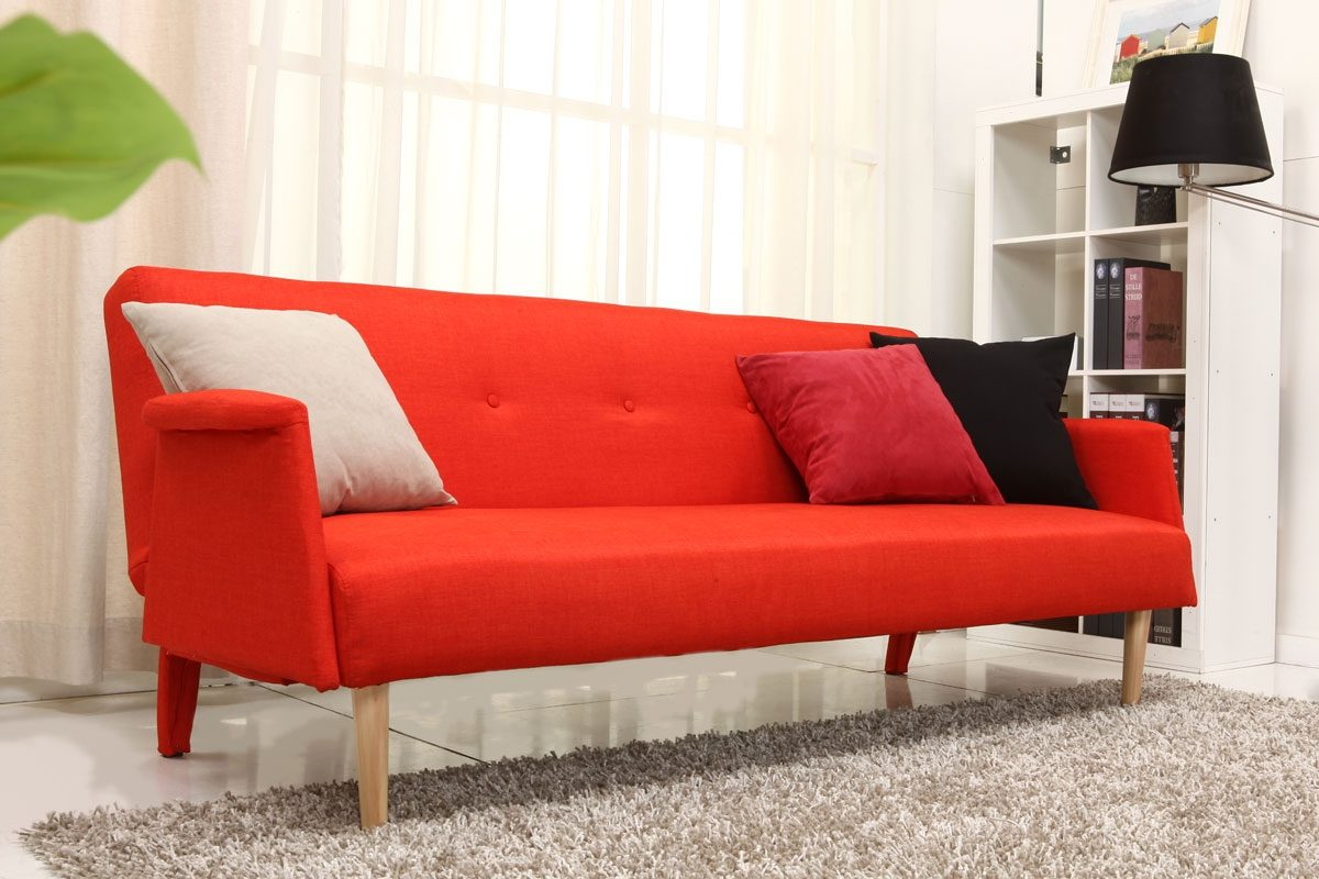 Sof escandinavo en color naranja im genes y fotos - Colores de sofas ...