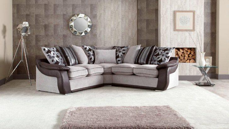 Sof rinconero moderno en gris y negro im genes y fotos - Salones con sofa negro ...