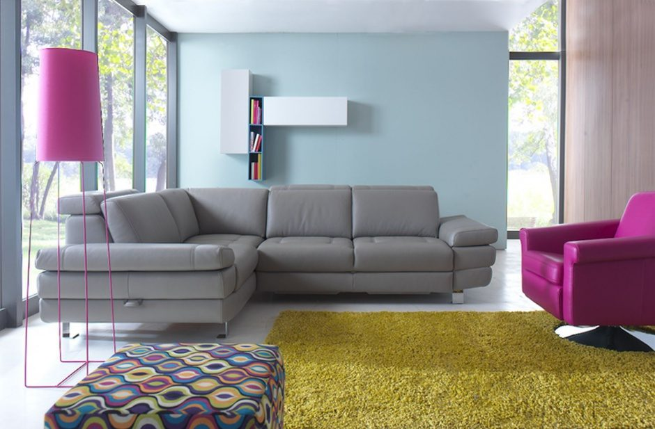 Sof s grises for Decoracion salon con sofa gris