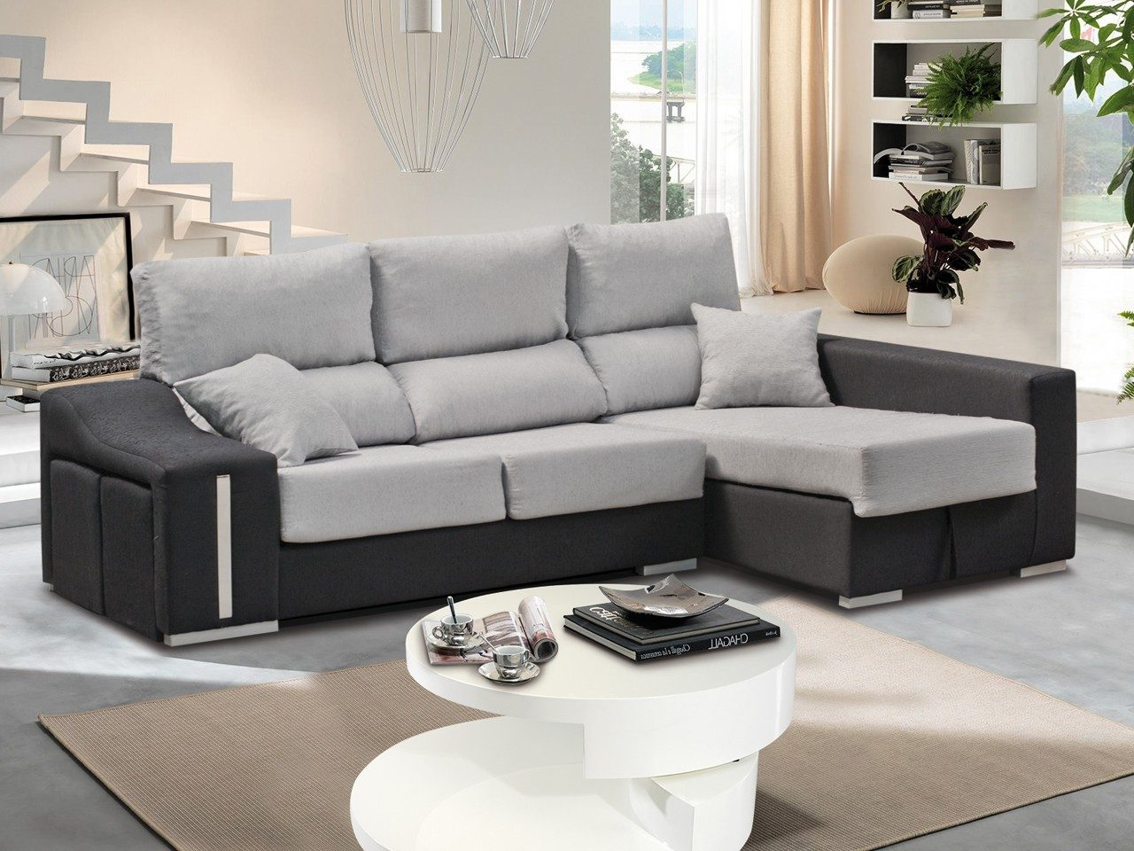Sof s para la decoraci n de interiores en for Sofas de piel con cheslong